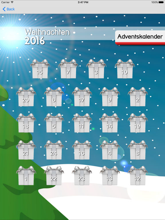 adventskalender apps 2016 f r iphone garantiert. Black Bedroom Furniture Sets. Home Design Ideas