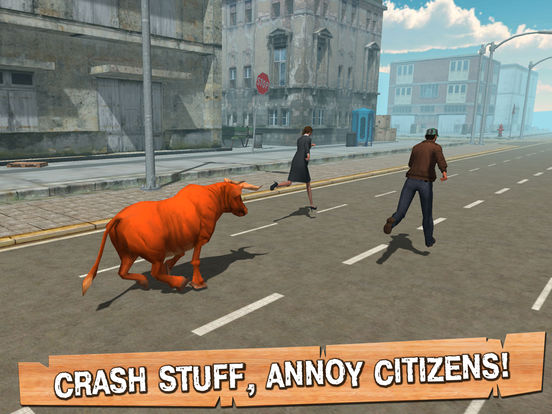 City Rampage Bull Simulator 3D Full Screenshots