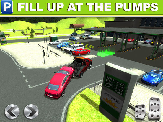 gas station car parking simulator gratuit jeux de voiture de course dans l app store. Black Bedroom Furniture Sets. Home Design Ideas