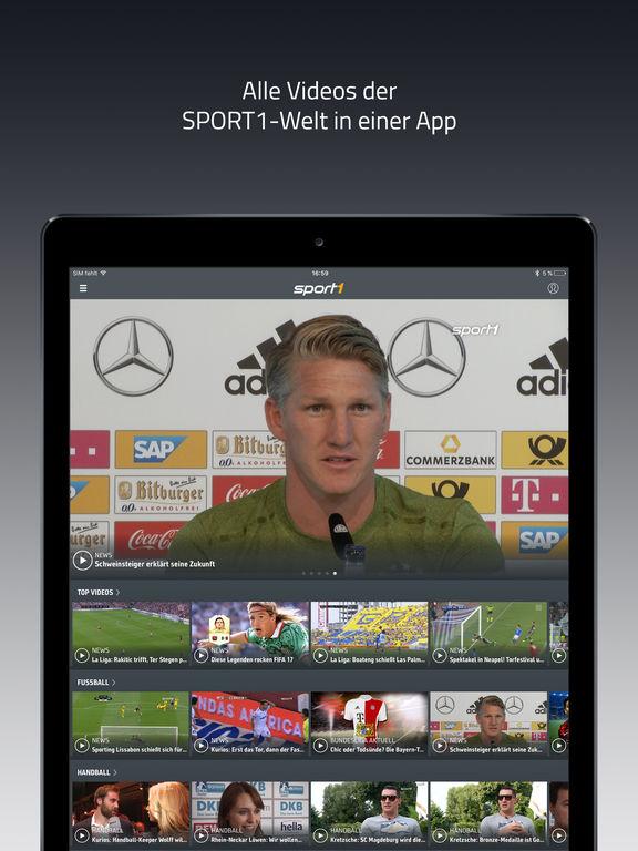 SPORT1 Video – Fußball & Sport Clips, Livestreams und TV Programm Screenshot