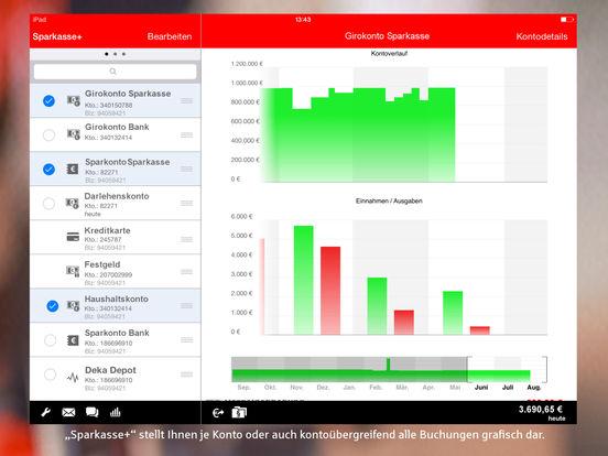 Sparkasse+ für iPad - Finanzen mobil im Griff Screenshot