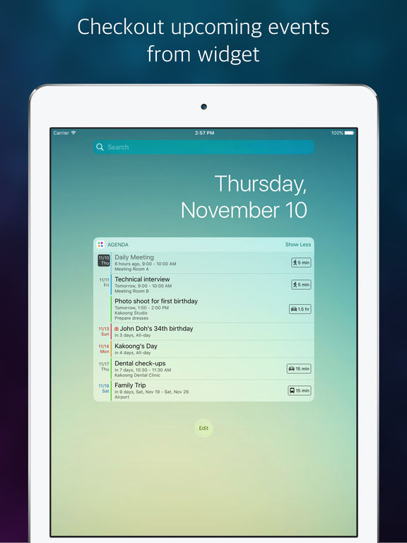 Agenda: Widget+ Screenshot