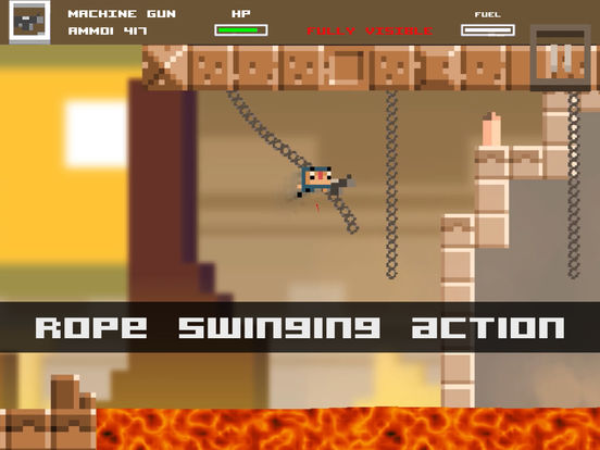 Tons of Bullets! Super 2D Action Adventure Game iOS Screenshots