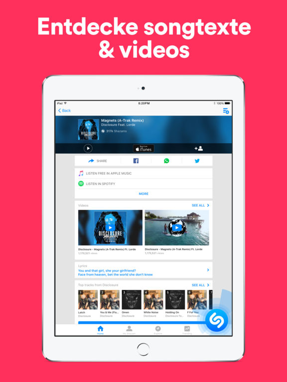 Shazam - Entdecke Musik, Videos & Songtexte Screenshot