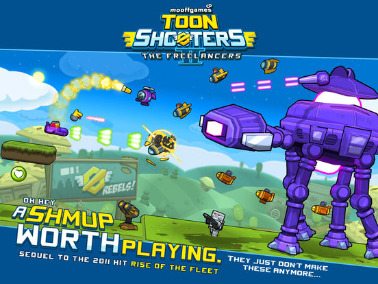 Toon Shooters 2: The Freelancers iOS Screenshots