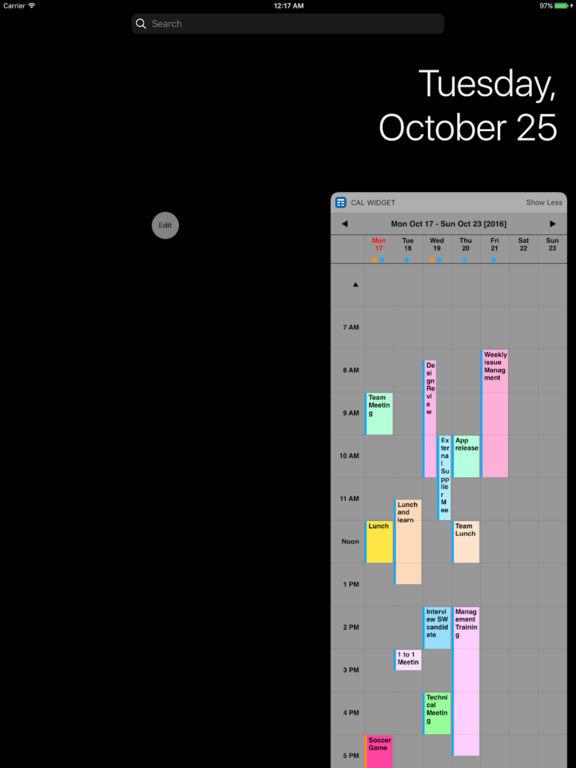 Woche Cal Widget für iOS-Kalender Screenshot
