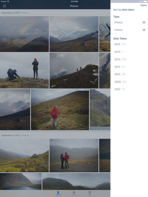 Prime Photos von Amazon Screenshot