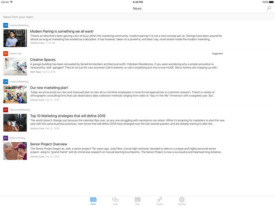 Microsoft SharePoint Screenshot