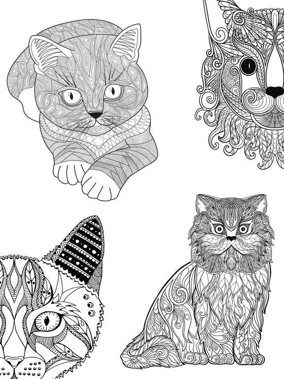 Mandalas de gatos para colorear adultos - Premium Por Valenapps ...