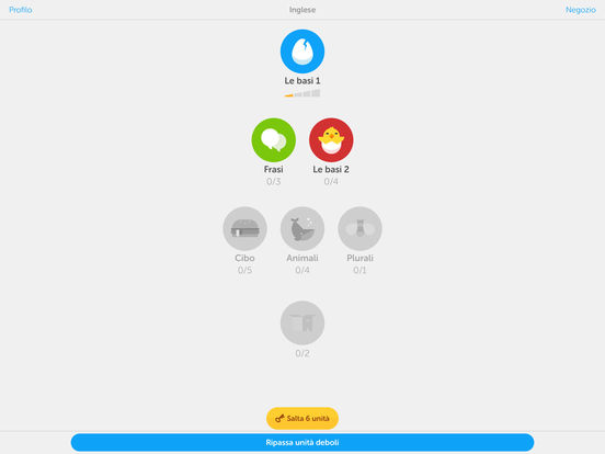 Impara l'inglese e il francese con Duolingo Screenshot