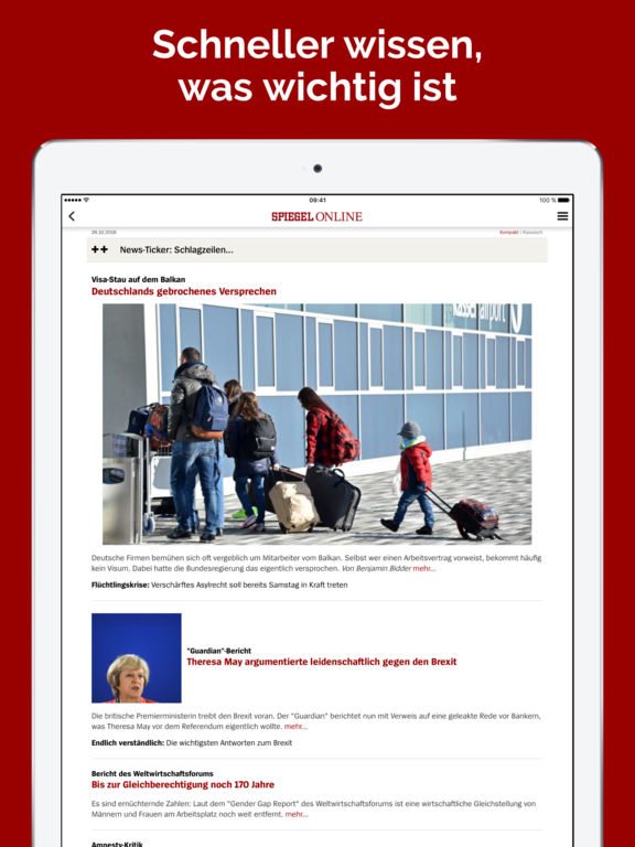 Spiegel online app ipad problem