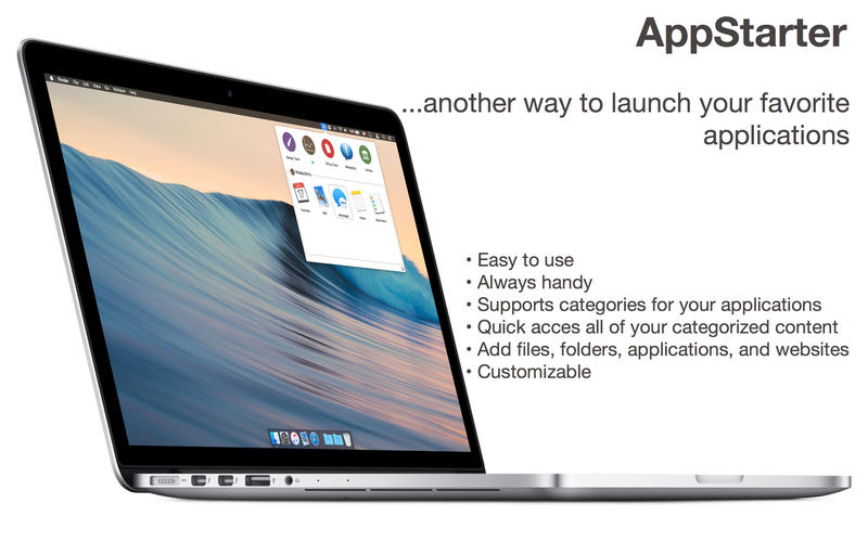 2017年5月21日Macアプリセール アプリランチャー・ドックアプリ「AppStarter」が値下げ!