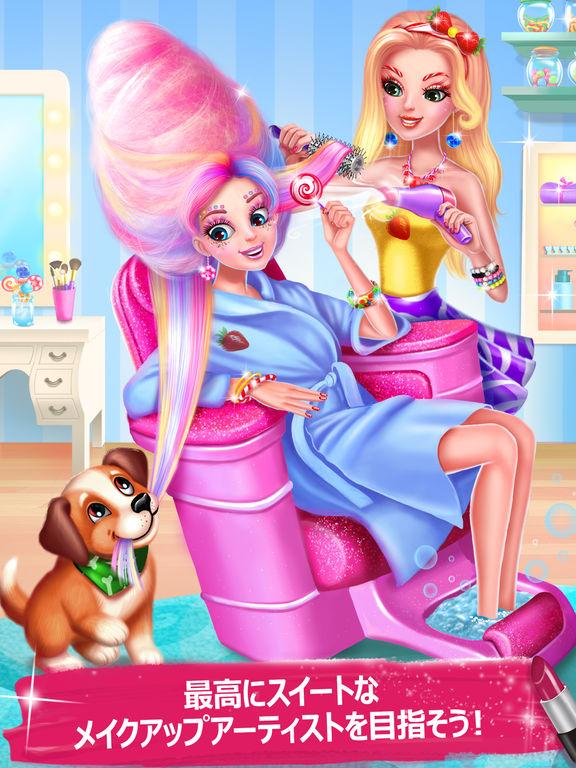 キャンディ・メイクアップ , 女の子のためのスイートサロンゲームのおすすめ画像1