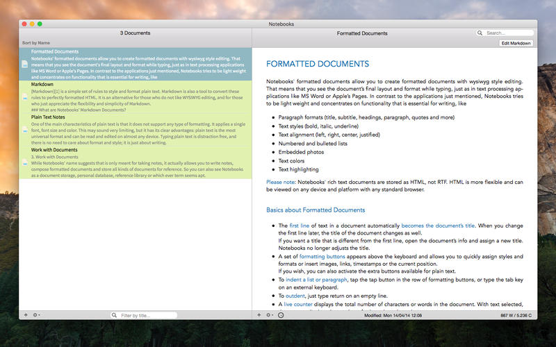 Notebooks - All Your Documents, Files and Tasks Screenshot
