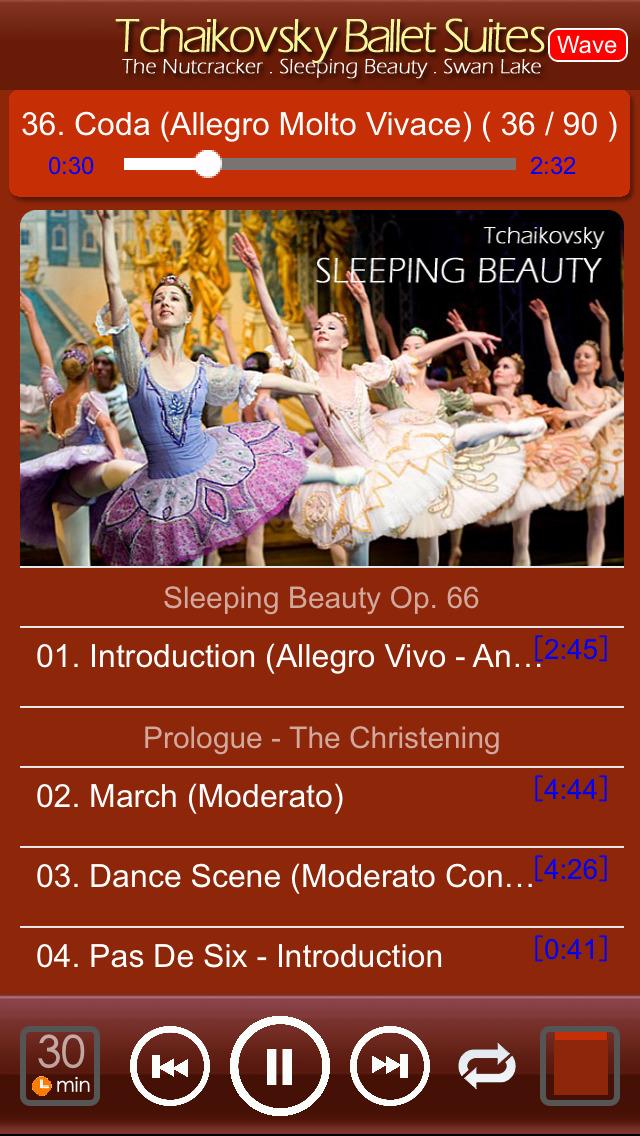 チャイコフスキーのバレエ : Tchaikovsky Ballet Suites : Swan Lake . The Nutcracker . Sleeping Beautyのおすすめ画像2