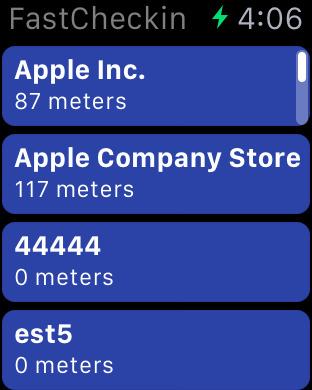 FastCheckin – 素早く簡単にfoursquareにチェックインできるアプリ Screenshot