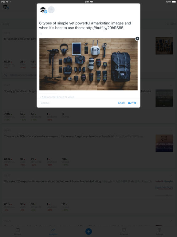 Buffer: Schedule Posts for Twitter & Instagram Screenshot