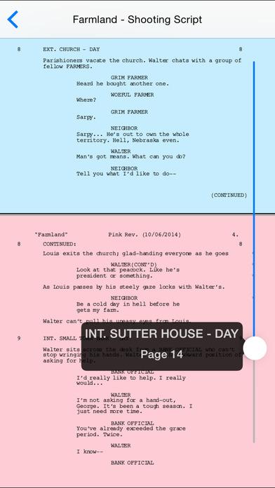 Final Draft Writer Screenshots