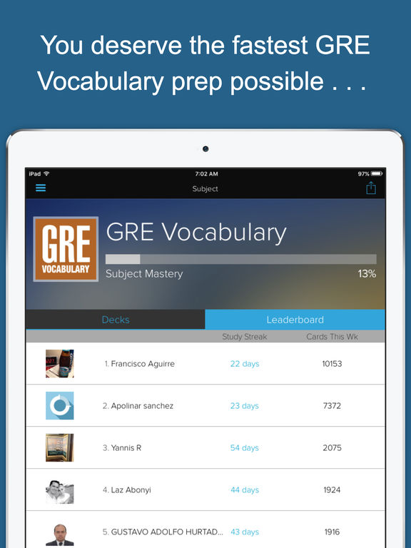 GRE Vocab Genius Screenshots