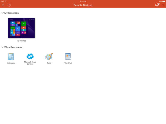 Microsoft Remote Desktop Screenshots