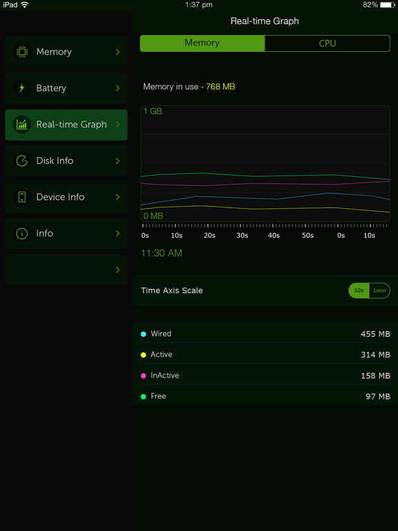 System Activity Monitor - Battery, Free Memory Screenshots