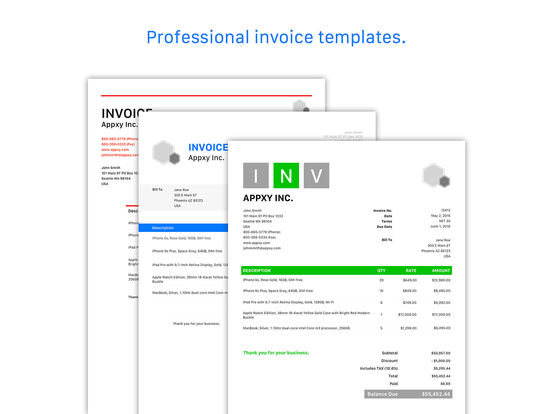 Invoice & Estimate - Tiny Invoice Screenshots
