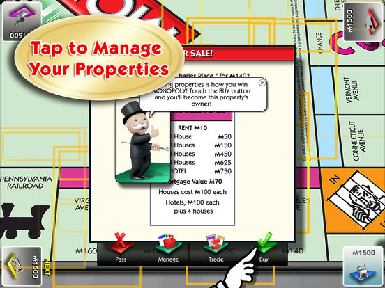 MONOPOLY for iPad Screenshots