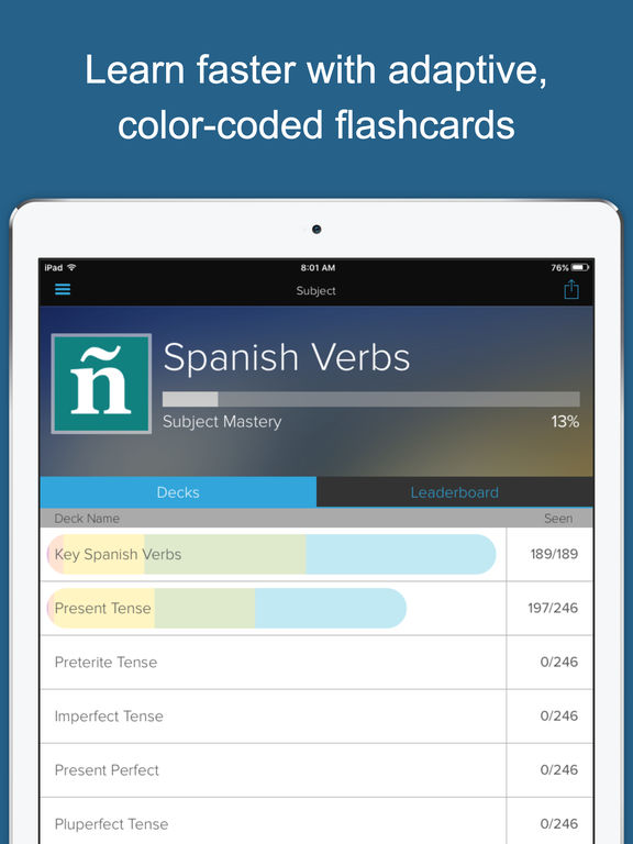Learn Spanish: Verbs Screenshots