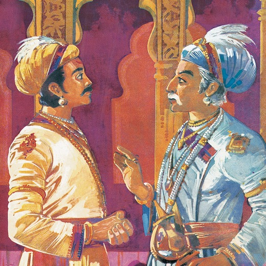 akbar birbal colouring pages