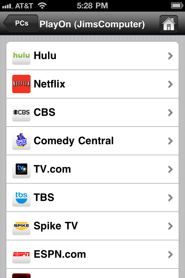 PlayOn Mobile free app screenshot 1