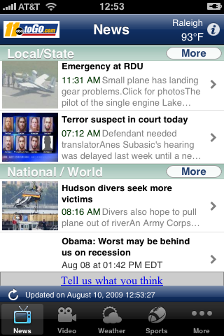 Local News, Weather and more free app screenshot 1