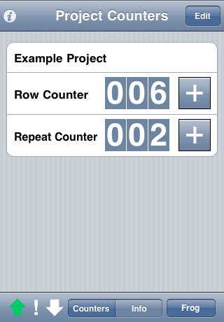 Knit Counter Lite free app screenshot 1