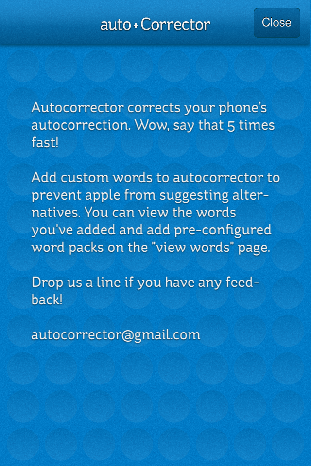 AutoCorrector Screenshot