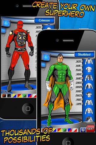 Superhero Creator FREE free app screenshot 1