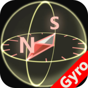 3D Compass for iPhone4 (Gyroscope enabled) icon
