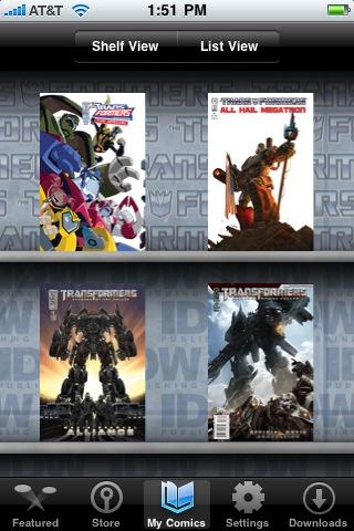 Transformers Comics free app screenshot 1