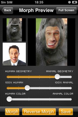 Morphing-Animal Free Version free app screenshot 1
