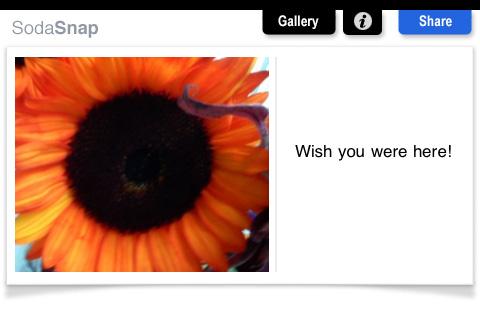 SodaSnap Postcards free app screenshot 1