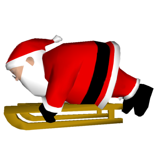 Downhill Santa