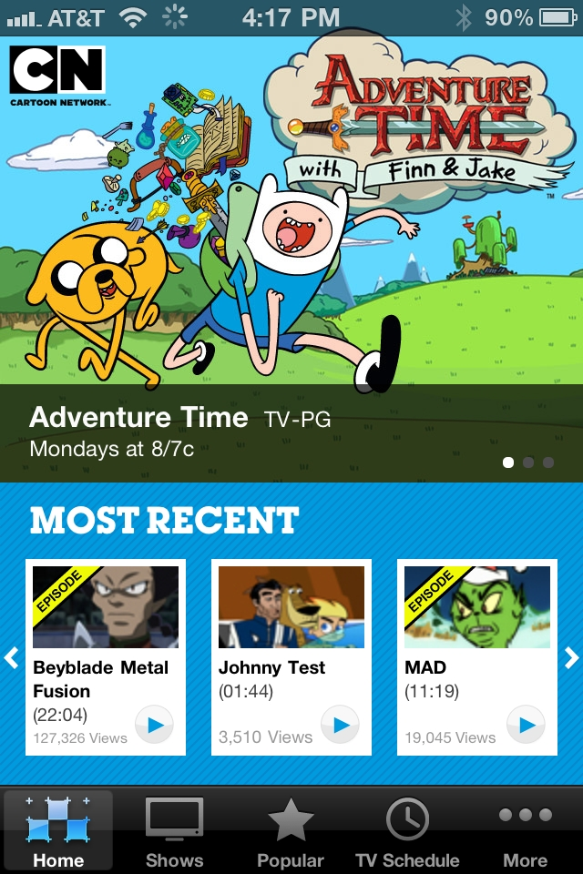 Cartoon Network Video free app screenshot 1