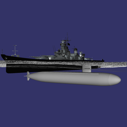 Submarine vs. Ships Battle 3D