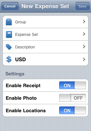Expense Tool Screenshot