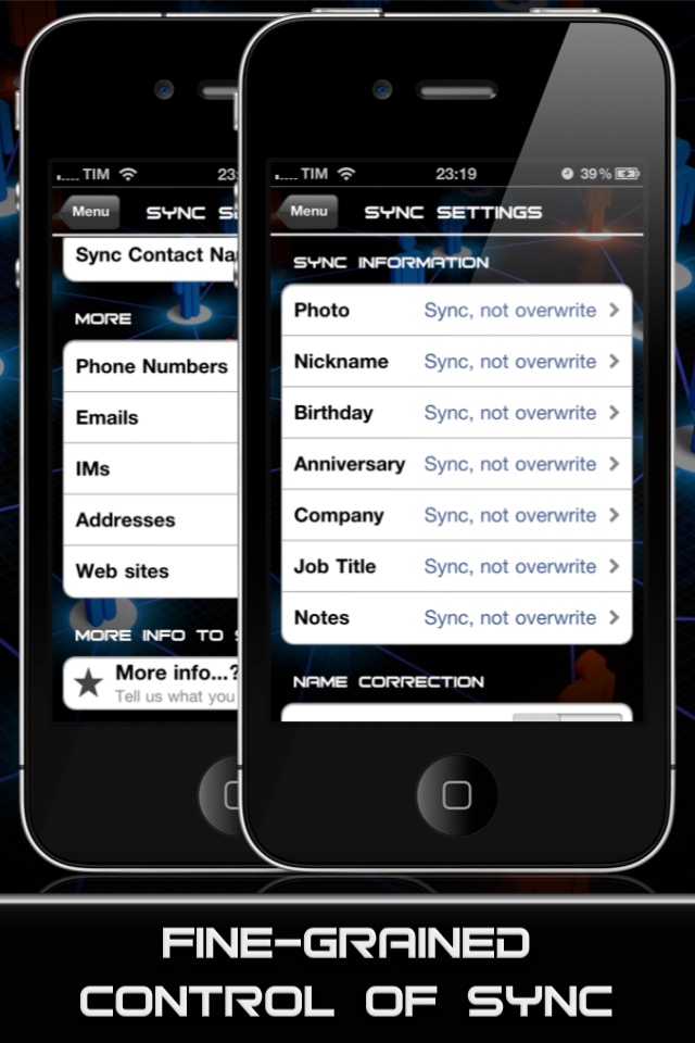 AllSync – Sync and Import your Contacts with Ease Screenshot