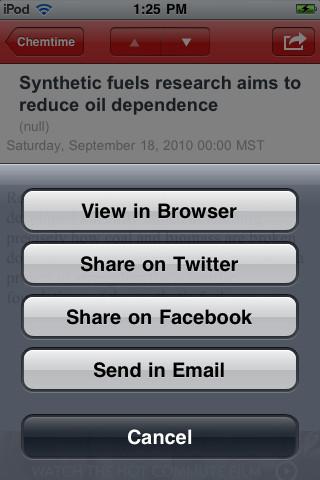 Chemistry News iPhone Screenshot 4