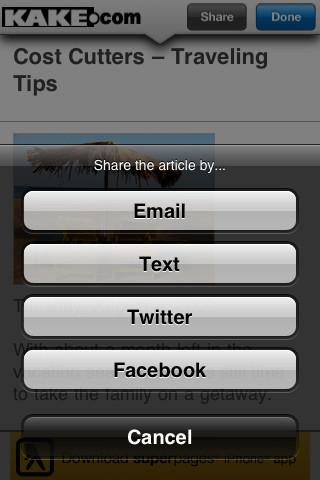 KAKE Mobile Local News iPhone Screenshot 2