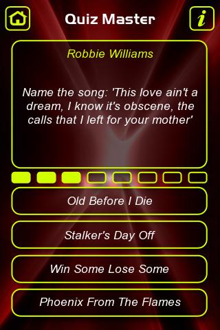 Robbie Williams Quizzes