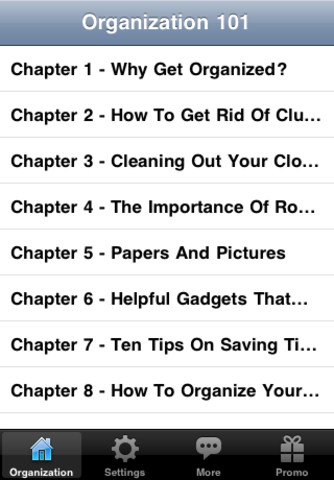 Organization 101 - Tips and Tricks to Organize Your Life, Work and Home iPhone Screenshot 1