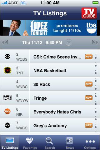 TV Guide Mobile free app screenshot 1