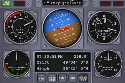 V-Cockpit GPS Lite - All in one (Compass, Altimeter, Speedometer, HUD, ...) free app screenshot 1