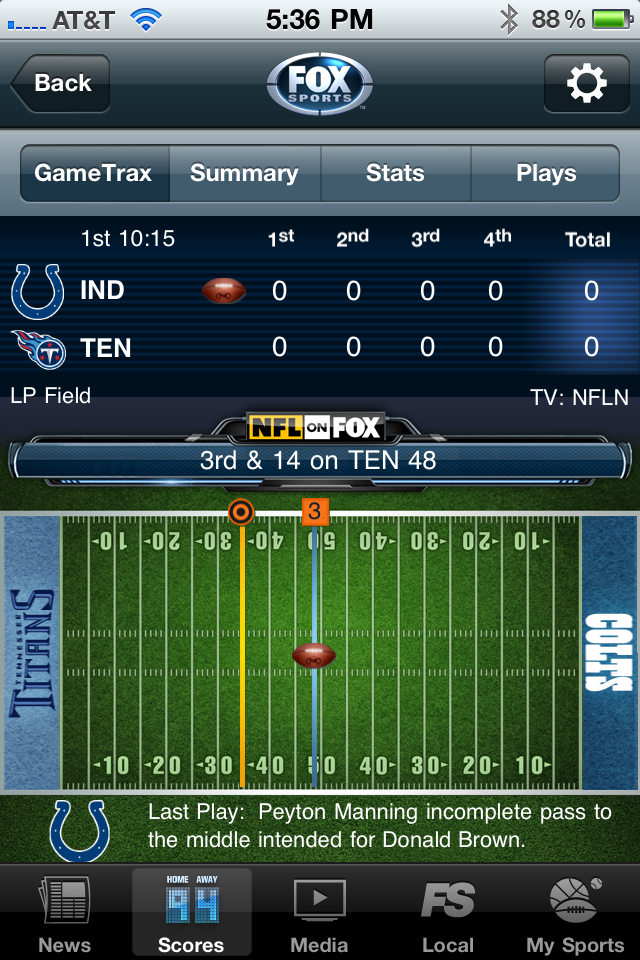 FOX Sports Mobile Screenshot